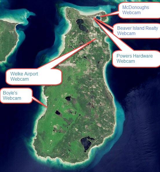 Beaver Island Webcam locator