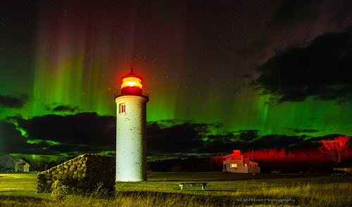 Northern Lights and Light Tower- Frank Solle