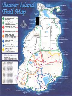 Beaver Island Trails Map