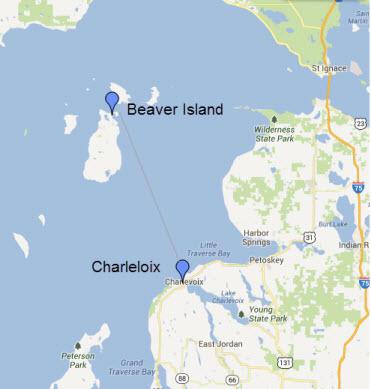 Charlevoix to Beaver Island