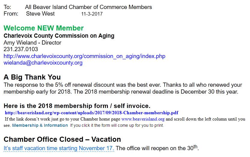 Chamber News 11-3-17