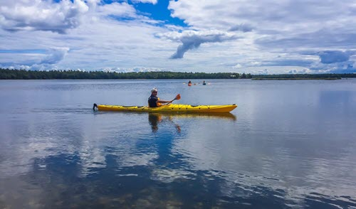 Kayaking on Beaver Island Water Trail