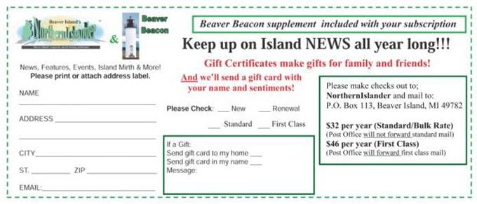 2018-19 Subscriber Form Northern Islander