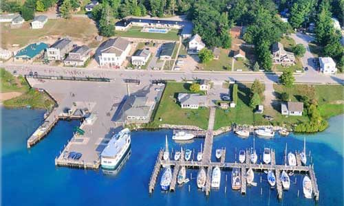 harbor aerial view